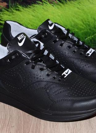 Кроссовки черные натуральная кожа м47ч размеры 36 37 38 39 40 41