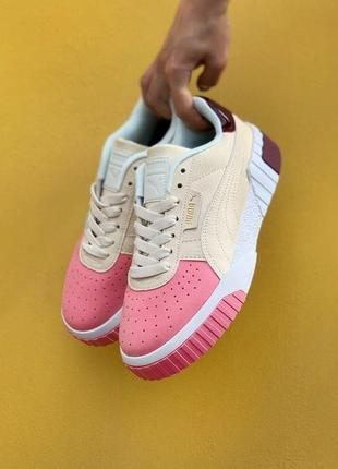 Puma cali cream pink кроссовки пума кали наложенный платёж купить