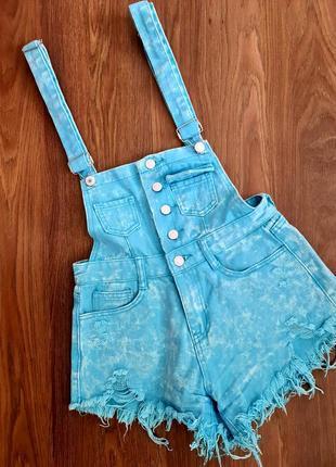 Шикарный летний джинсовый комбинезон