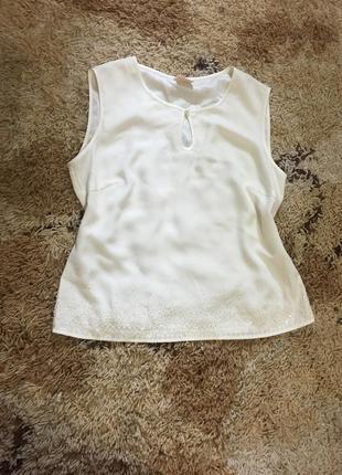Супер белая блуза с бисерной оконтовкой country casuals