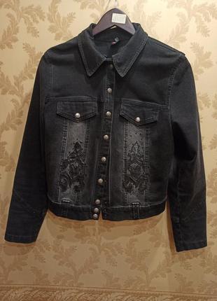 Джинсовая куртка, джинсовка с украшениями турция