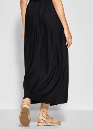 Чёрная женская юбка макси # m&s