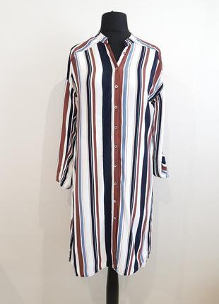 Стильное платье рубашка в полоску yessica