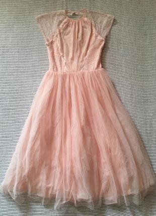 Нарядное, нежно-розовое платье от asos, 💖