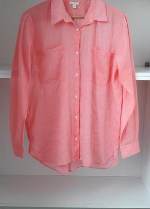 L/xl хлопковая рубашка блузка длинный рукав gap 61784