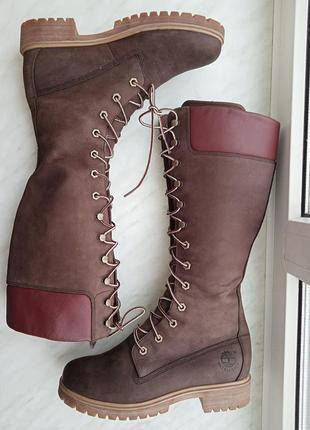"""Р.38 """"timberland"""" натуральная кожа высокие ботинки"""