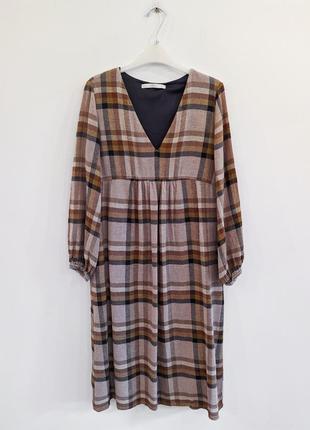 Платье новое zara шерсть миди длинный рукав подкладка карманы размер s