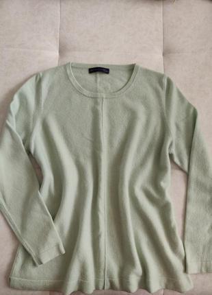 Кашемировый джемпер полувер свитер pure cashmere цвет мяты