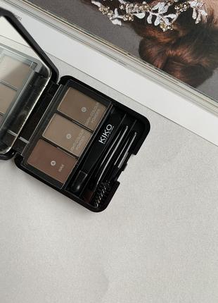 Тени для бровей kiko milano eyebrow expert styling kit 01