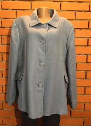 Пальто, полупальто , куртка , жакет gray osbourn  64 р шерстяное