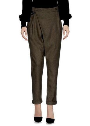 Шерстяные брюки на запах,люкс бренд,ypno италия