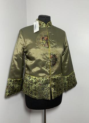 Китаянка традиционный жакет на синтепоне пиджак китай