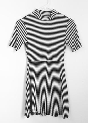 Платье в полоску, в рубчик topshop