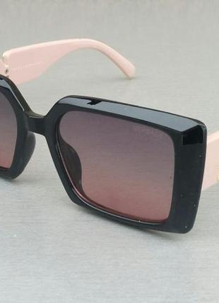Versace женские солнцезащитные очки черные с розовыми дужкамм с к
