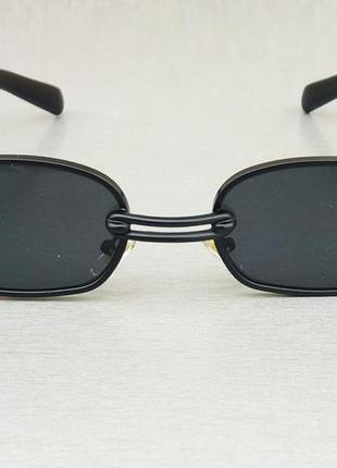 Gentle monster очки унисекс солнцезащитные черные узкие с сережкой