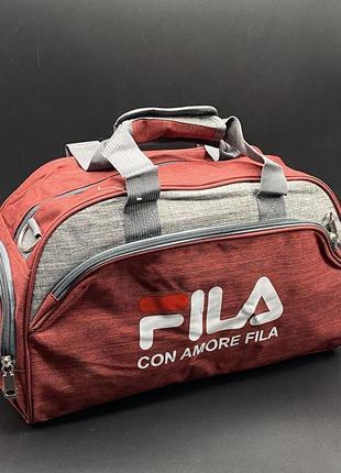 Спортивная дорожная сумка для поездок, сумка спорт, валіза, fila