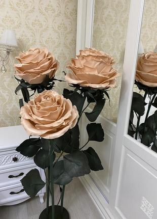 """Торшер светильник """"букет бисквитных роз"""" большие цветы интерьерные цветы"""