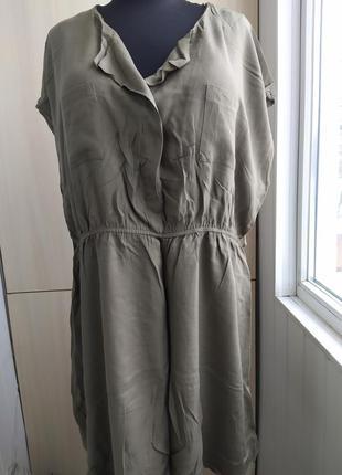 Вискозное батальное платье.