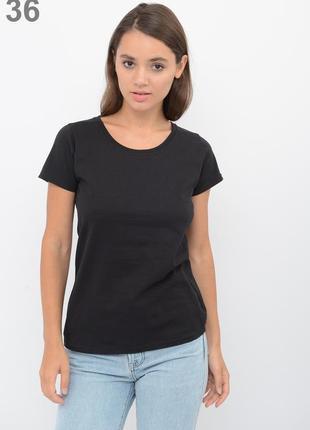 Женская приталенная футболка 100% хлопок fruit of the loom valueweight lady-fit