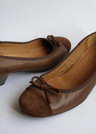 Кожаные туфли roberto santi, р. 41– 26.5см.