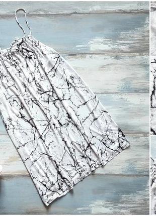 Летнее пляжное платье lindex в мраморный принт трещины