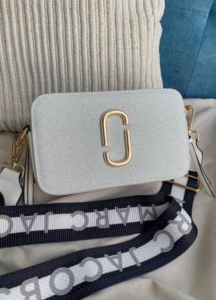 Marc jacobs шикарная женская сумка белого цвета