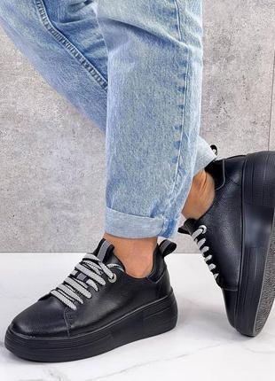 ❤купить крутые женские демисезонные кожаные кроссовки ❤
