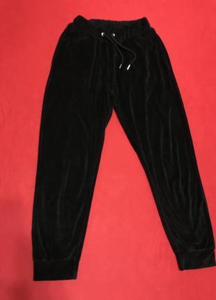 Велюровые брюки на манжетах