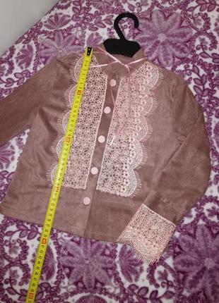 Блуза на 5 лет ткань замш