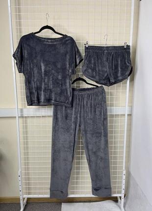 Пижама набор тройка плюш