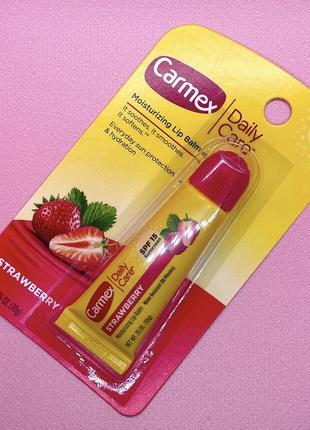 Увлажняющий бальзам для губ carmex strawberry 🍓 spf15