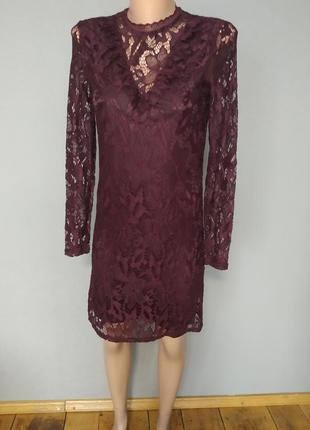 Новое кружевное платье vila clothers, xs