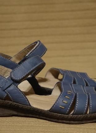 Легкие открытые темно-голубые кожаные босоножки casual matalan англия 37 р.