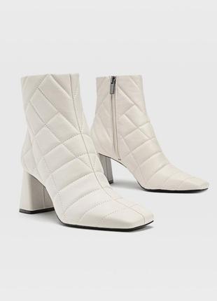 Полусапожки на квадратном каблуке ботинки ботильоны сапоги