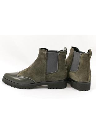 Стильные ботинки- челси geox respira из натуральной кожи замши р. 36; 37,5; 38,5