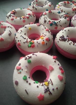 Бомбочка для ванны пончик.бомбочки для ванн