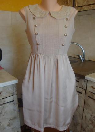 Платье кремовое atmosphere размер s 10/38 полиэстер