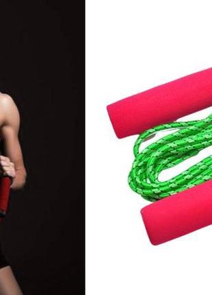 Скакалка з лічильником з неопреновими ручками jump rope rose