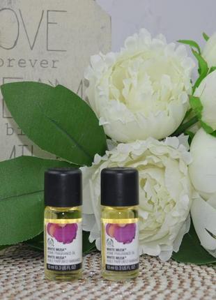 Масло для дома белый мускус white musk home fragrance oil the body shop 10 ml