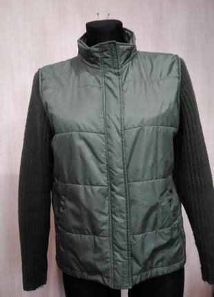 Куртка с вязаными рукавами
