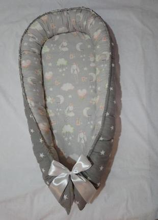 Кокон гнездышко для новорожденных, кокон гніздечко, бебинест, бебінест