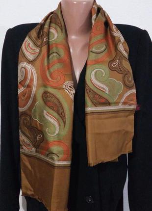 Гарне кашне шарф натуральний шовк унісекс