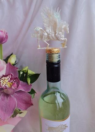 """Уникальная пробка для вина """"волшебный пегас"""" ручная работа"""