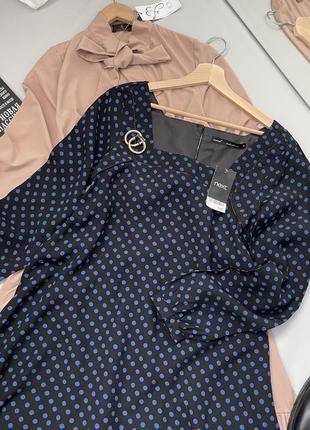 Платье свободный крой квадратный вырез3 фото