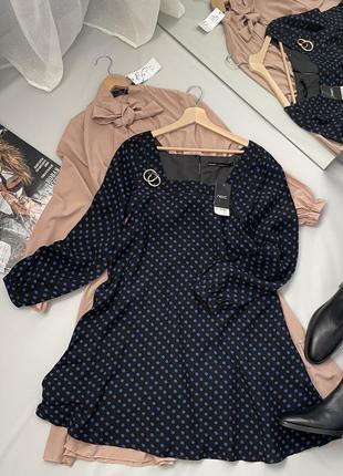 Платье свободный крой квадратный вырез5 фото