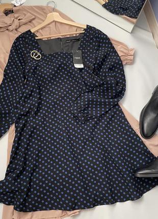 Платье свободный крой квадратный вырез6 фото