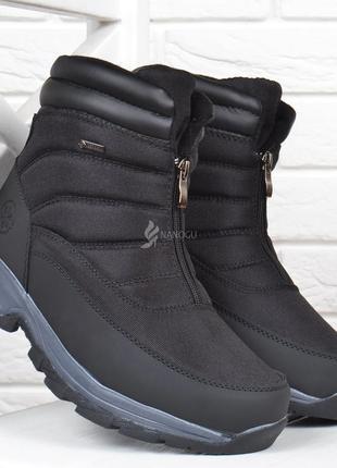 Дутые мужские ботинки keepwarm вьетнам с протектором на молнии