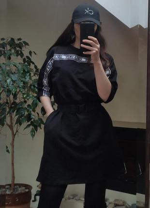 Платье оверсайз худи свитшот fb sister