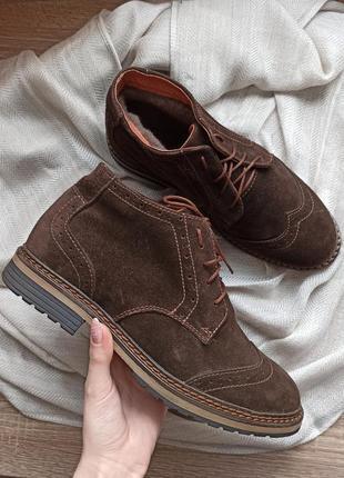 Зимние замшевые ботинки, боты мужские