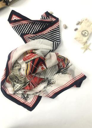 Шёлковый платок 💙морская тематика